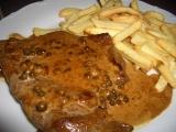 Biftek na zeleném pepři recept