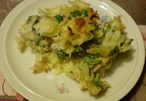 Zapečené těstoviny s kuřecím masem a s brokolicí