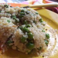Hráškové rizoto se saturejkou recept
