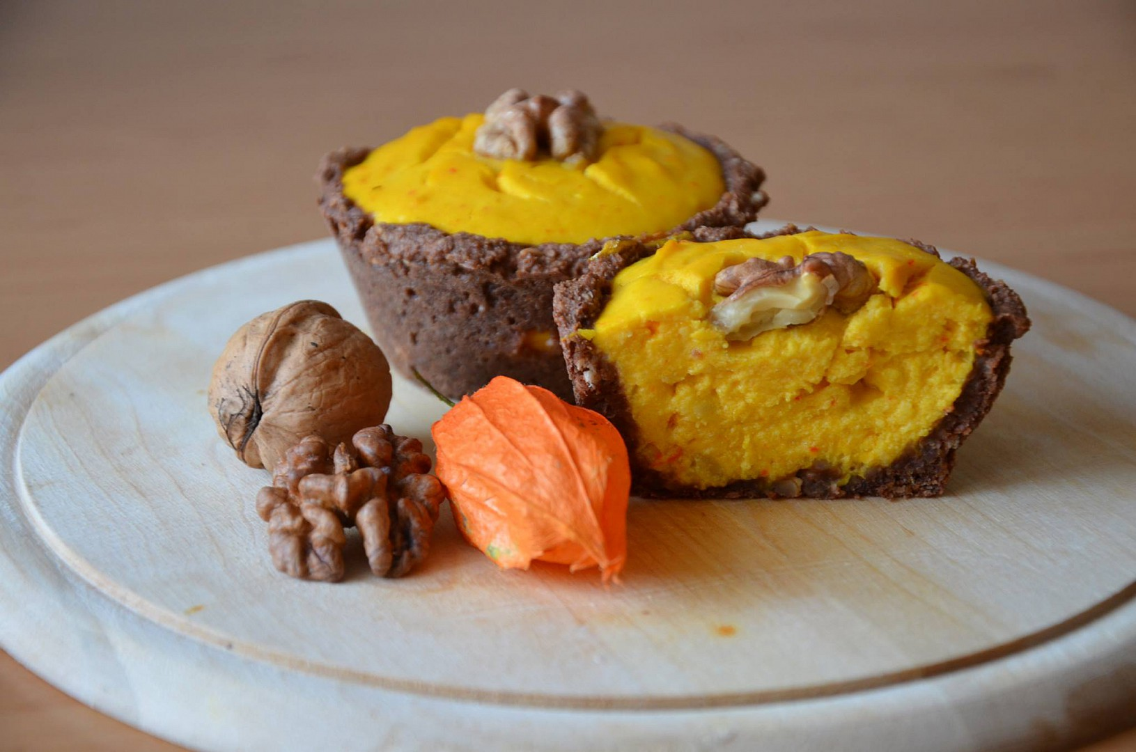 Zdravé tvarohovo-hokaidové muffiny v kakaovém košíčku recept ...