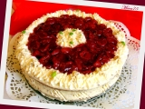 Třešňový dort s tvarohovo  smetanovým krémem recept ...
