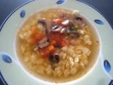Zeleninová polévka se žampiony recept