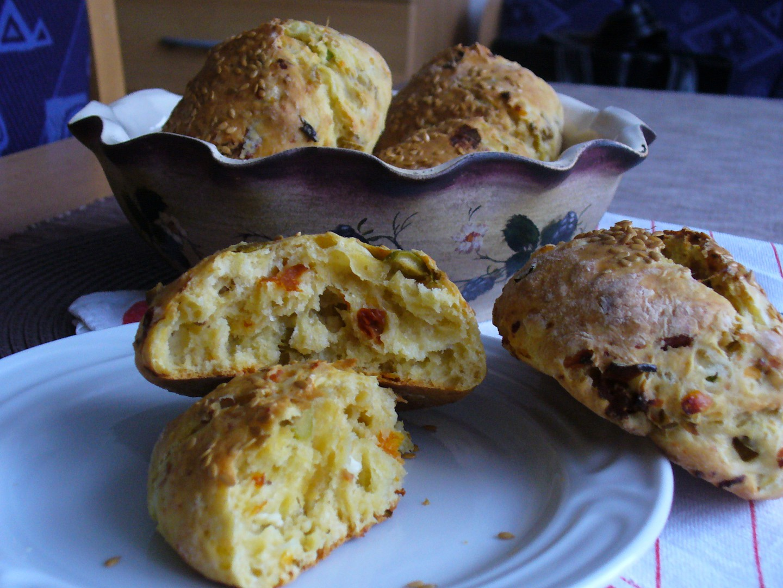 Bochánky s cottage sýrem recept