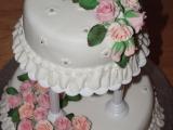 Růže  svatební dort recept