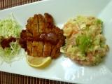Japonský bramborový salát a Katso řízek s domácí omáčkou Tomkatsu