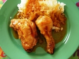 Kuře na cibuli v římském hrnci recept