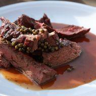 Hovězí steak Yamato na zeleném pepři recept