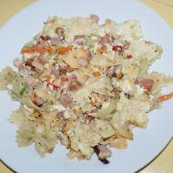 Zapečené těstoviny s kuřecím masem recept