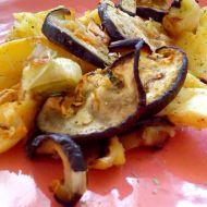 Pečené brambory s lilkem recept