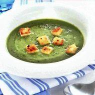 Hrášková polévka s mátou a smetanou recept