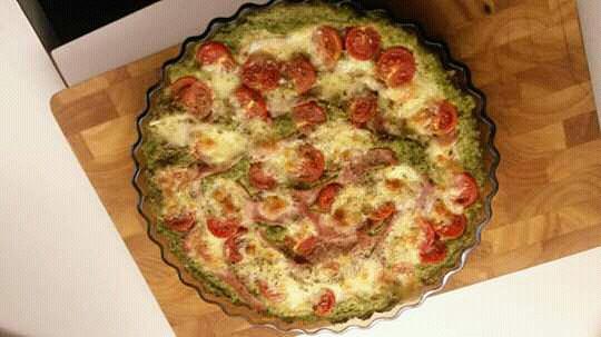 Brokolicová pizza bez mouky recept