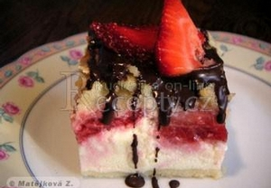 Drobenkový tvarohový dort