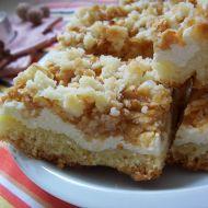 Sypaný tvarohový koláč s jablky recept