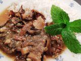 Hovězí na houbách recept