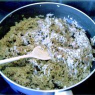 Houbové rizoto s vepřovou konzervou recept