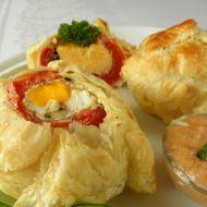 Rajčata s vejci zapečená v listovém těstě recept