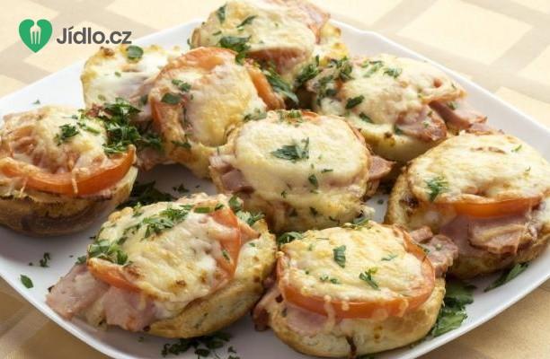 Recept Mini pizza se šunkou a sýrem