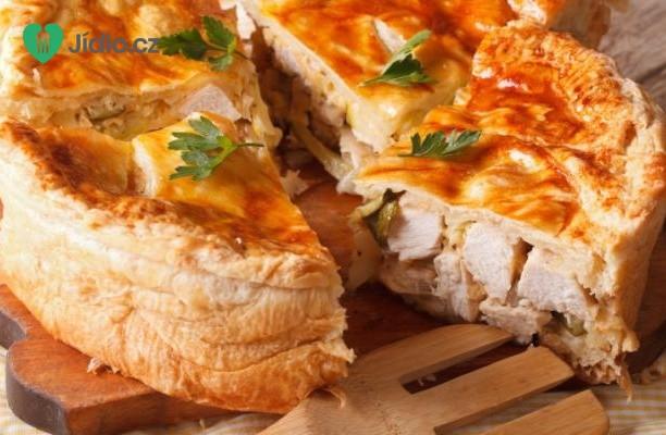 Recept Slaný koláč s houbami a kuřecím masem