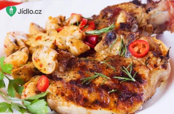 Recept Vepřové maso na houbách