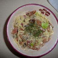 Špagety se smetanou a žampiony recept