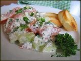 Zeleninový salát s bylinkami a sýrem Cottage recept