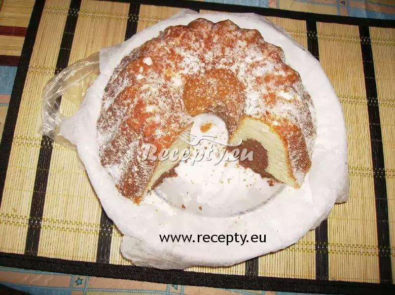 Mramorová hrníčková bábovka recept  moučníky