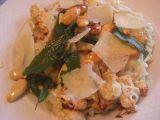 Krémové risotto s pečeným květákem a mandlemi recept ...
