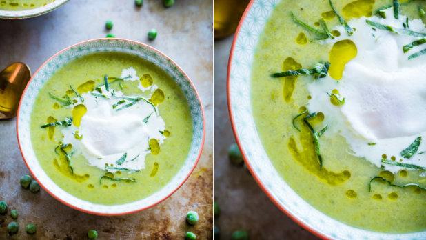 Hrášková polévka s pórkem