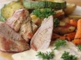 Panenka na minutku s pečenými brambory a zeleninou recept ...