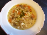 Bažantí polévka se sýrovým kapáním recept