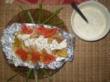 Kuře s chřestem v alobalu / dietni recept