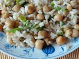 Cizrna s rýží, žampióny a pórkem recept