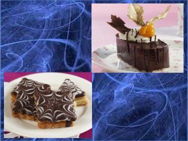 Čokoládové oválky + čtverečky