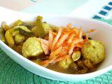 Zeleninová polévka s tofu knedlíčky recept