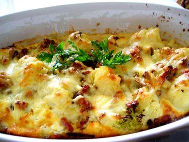 Pečený celer se sýrem a vejci