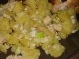 Brambory s vaječinou a pórkem/cibulkou recept