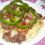 Špagety s omáčkou ze srdíček recept
