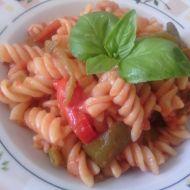 Těstoviny s paprikami recept