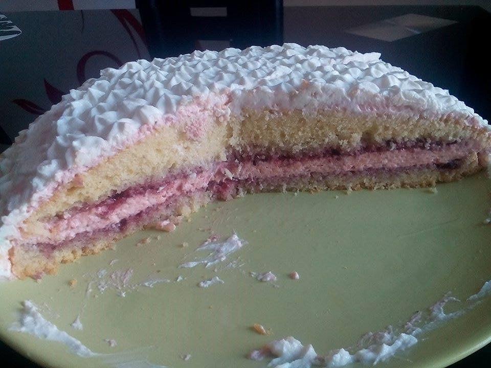 Jahodovo-tvarohový dortík recept