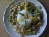 Zelenina na pánvi s marinovaným quornem recept