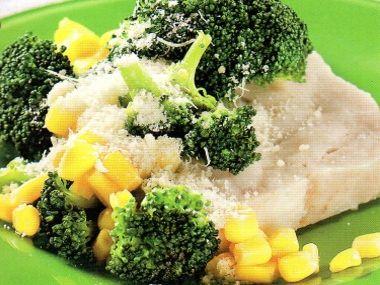 Filé se zeleninou, vařené v páře