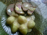 Plněná sekaná s hořčičným sosem recept