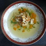 Rychlá polévka z bujonu s celestýnskými nudlemi recept