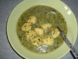 Špenátová polévka s nočky recept