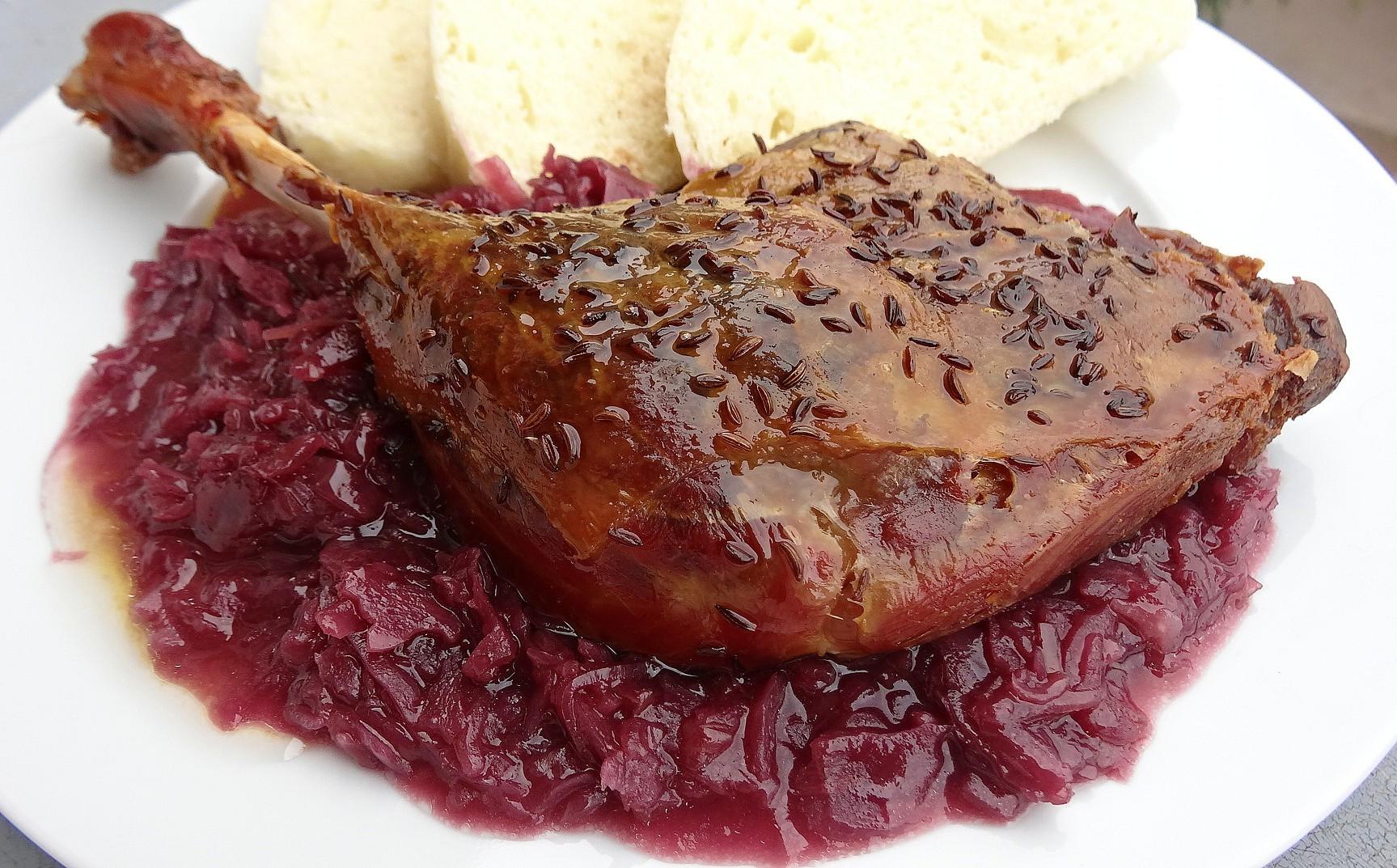 Svatomartinská husa recept