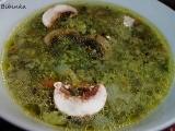Netradiční špenátová polévka ze špenátového pudinku recept ...