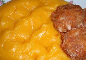 Dýňové pyré s bramborem