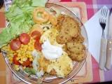 Smažené maso a sýr v kari těstíčku recept