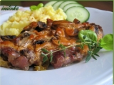 Krkovičkové plátky s majonézovo-kečupovou směsí recept ...