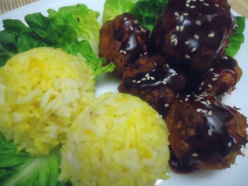 Asijské kuřecí koule recept